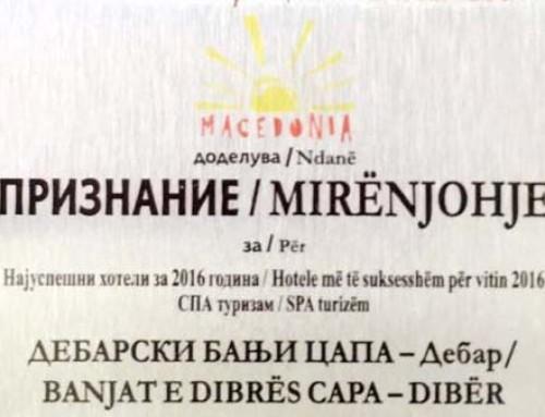 Mirënjohje nga Ministria e Ekonomisë